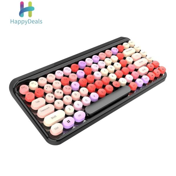 Hot Sale Keyboards Classic Texture Bluetooth Keyboard Wireless 84 Keycaps for Tablet Laptop PC Singapore