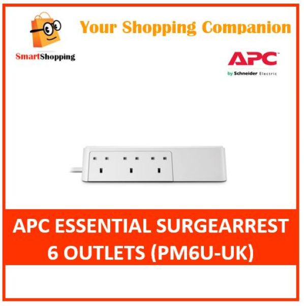 APC Essential SurgeArrest 6 Outlets 230V UK (PM6-UK)