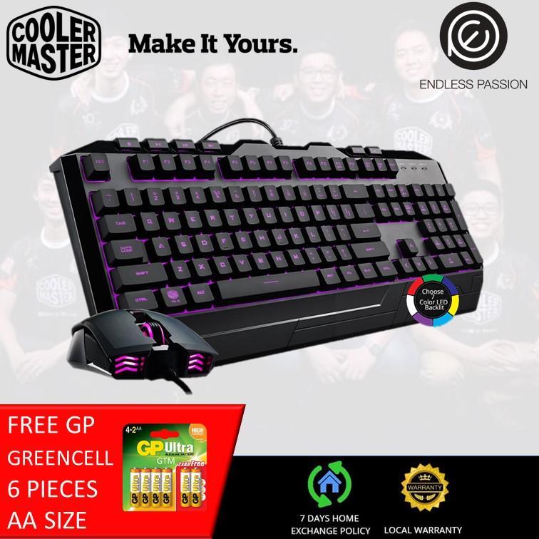 Cooler Master Devastator 3 Plus Seven-color Hybrid Mem-chanical Gaming Keyboard & Mouse Combo Singapore