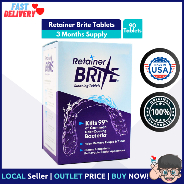 Buy Retainer Brite Tablets for Cleaner Retainers and Dental Appliances - 96 Tablets Singapore