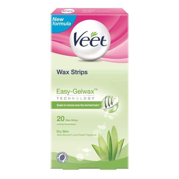 Buy Veet Wax Strip Aloe Vera Easy Gel Wax 20strip Singapore