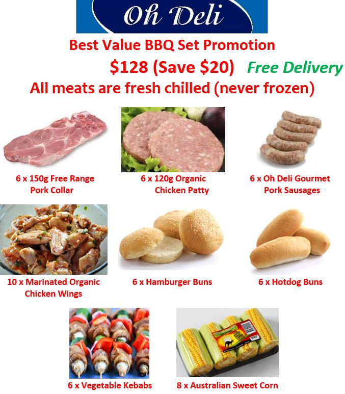 Oh Deli Best Value Bbq Set Promotion (all Meats Are Fresh Chilled - Never Frozen) By Ohdeli.com.sg.