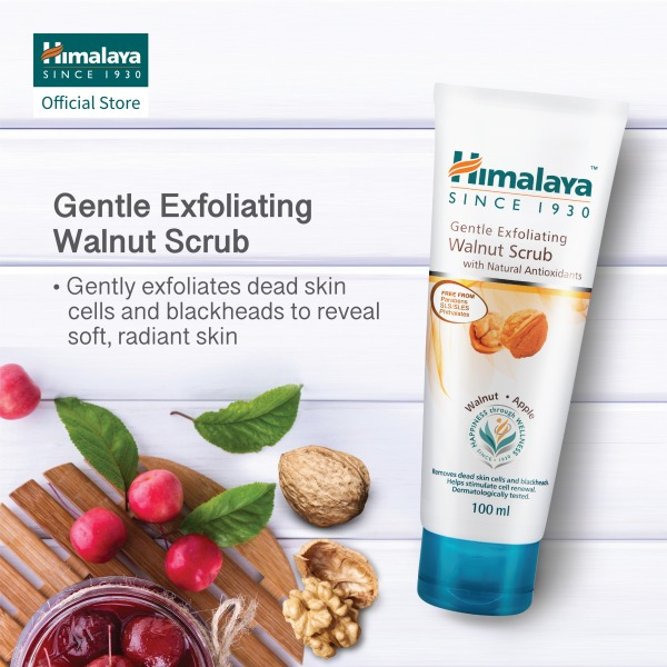 Buy HIMALAYA GENTLE EXFOLIATING WALNUT SCRUB 100ML (Bundle of 2) Singapore