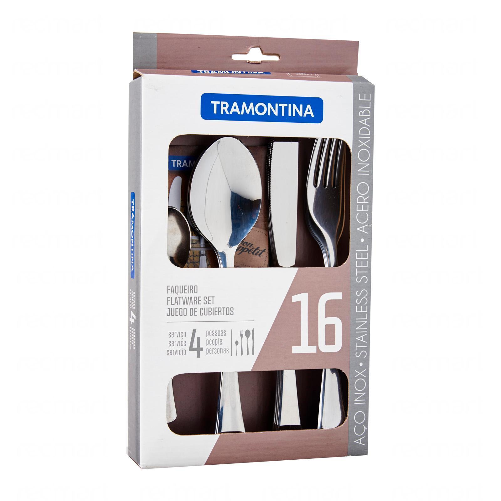 Tramontina Stainless Steel Cutlery (16Pcs) (Havana)