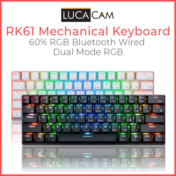 RK61 Bluetooth Wired Dual Mode 60% RGB Mechanical Gaming Keyboard
