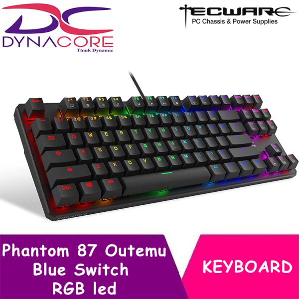 DYNACORE - Tecware Phantom 87 Key Mechanical Keyboard, RGB led, Outemu Blue Switch