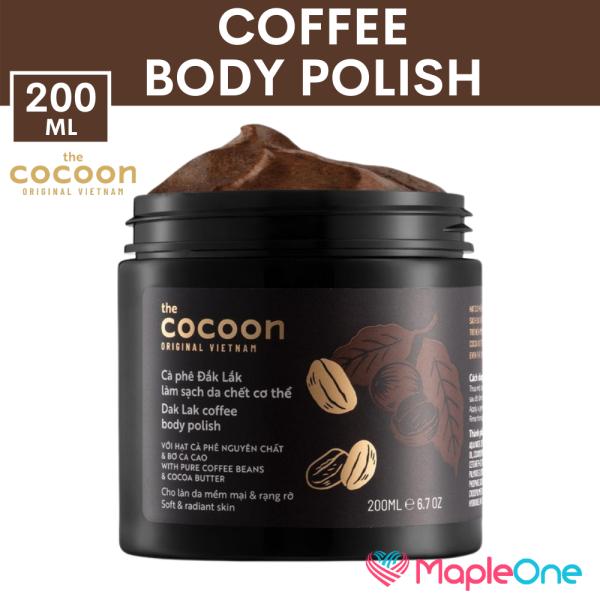 Buy Vietnam Coffee Body Polish 200ml | Exfoliate Hydrate Moisturize Skin | Cocoon MapleOne Singapore