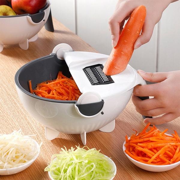 Bảng giá Magic Rotate Vegetable Cutter with Drain Basket Multi-Functional Kitchen Veggie Fruit Shredder Grater Slicer Điện máy Pico