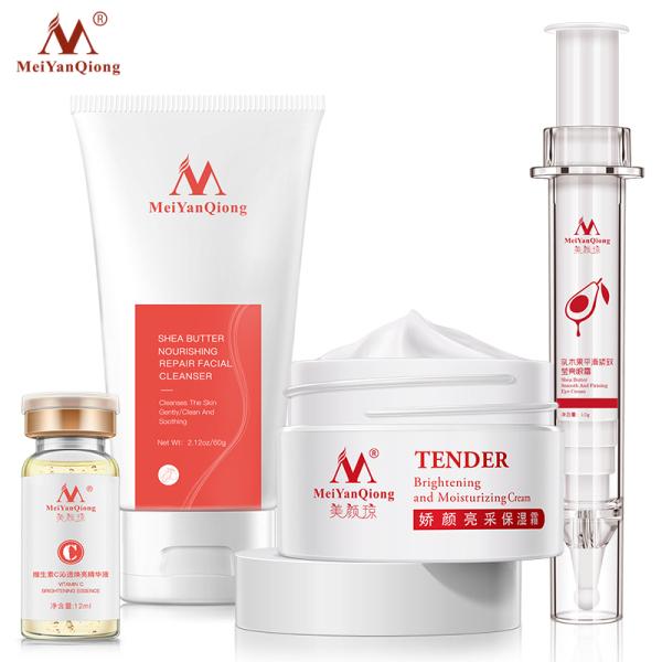 Buy MeiYanQiong Super Skin Care Vitamin C +MeiYanQiong Shea Butter Nourishing Repair Facial Cleanser Skin+MeiYanQiong Brightening and Moisturizing Cream+MeiYanQiong SHEA BUTTER SMOOTH AND FIRMING EYE CREAM Singapore