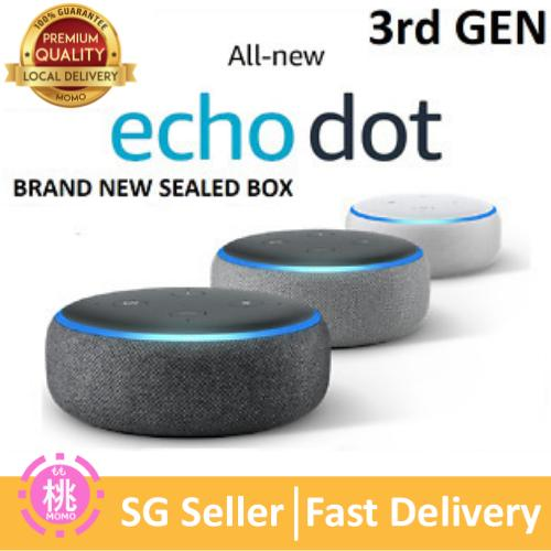 Amazon Echo Dot 3 (3rd Gen) Latest Edition - Smart Speaker With Alexa (3 Months Warranty) By Momo Accessories.