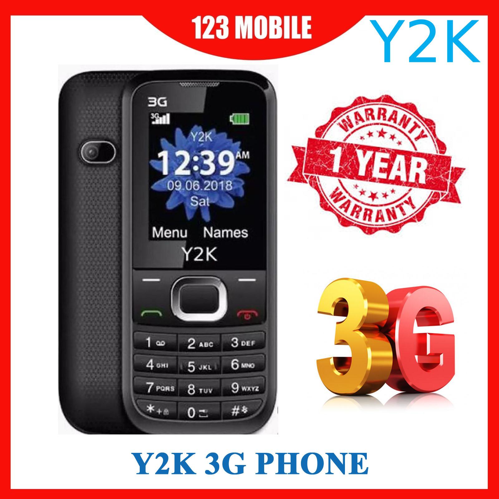 Y2k 3g Candy Bar Phone Lite 2018 (1 Year Local Manufacturer Warranty).