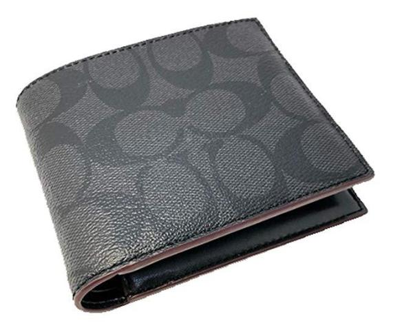 Coach Men Wallet Model F25519 - Wallet in Signature Coated Canvas with Removable Insert