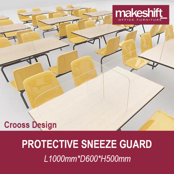 [READY STOCK IN SG] Protective Sneeze Guard L1000*D600*H500mm – Safety Shield - Barrier Against Coughing & Sneezing (For Workstations, Restaurants, Doctors Office, TCM, Retail etc) Material: 4 mm Plexiglass
