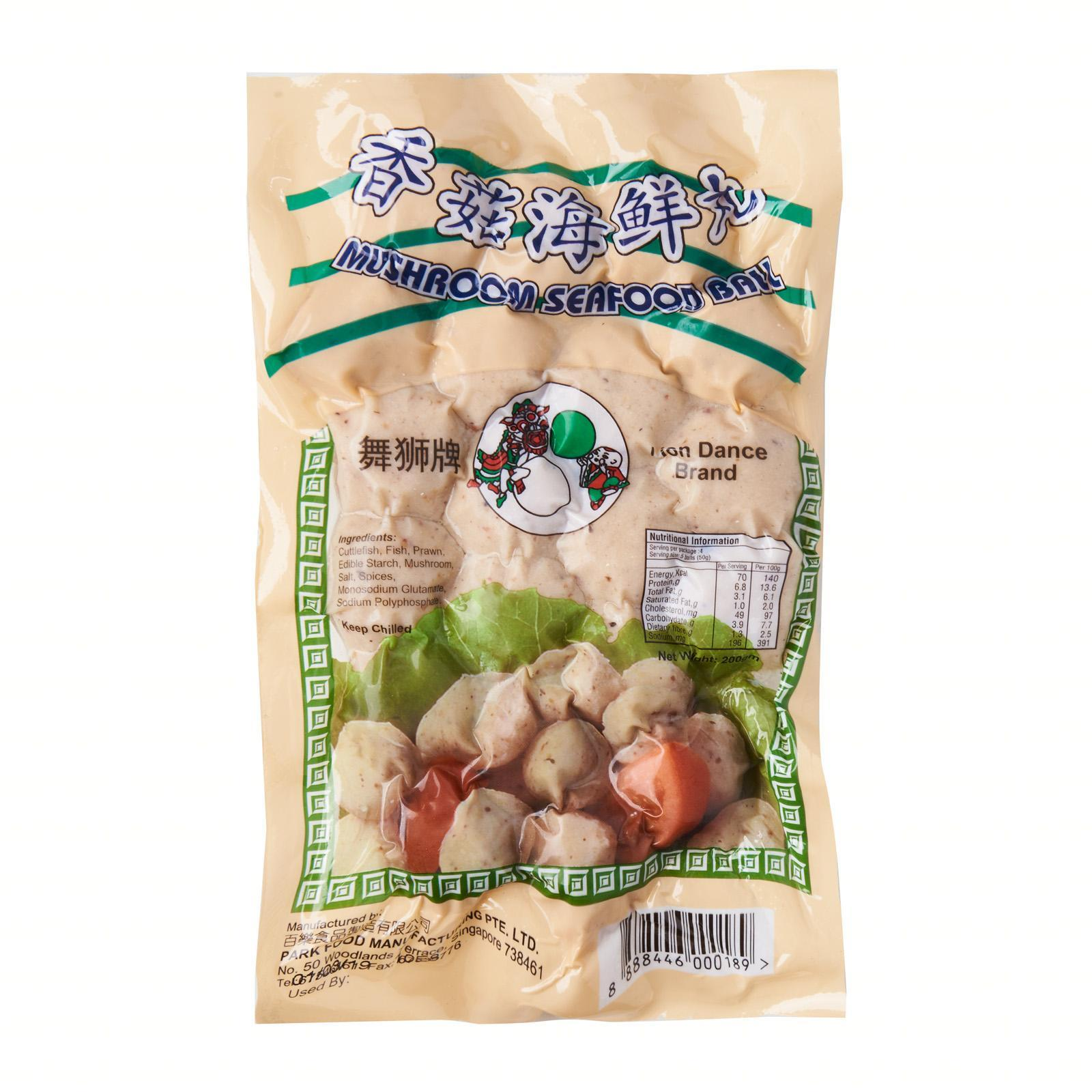 Lion Dance Brand Mushroom Seafood Ball - Frozen By Redmart.