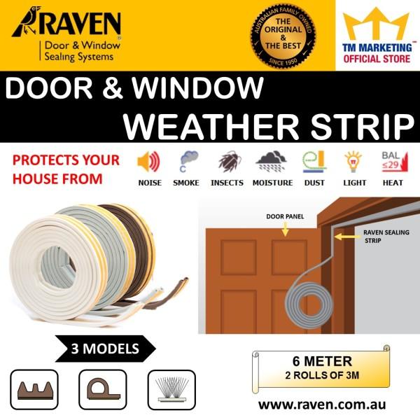 RAVEN DOOR AND WINDOW SEAL 2X3M (6M) RP59