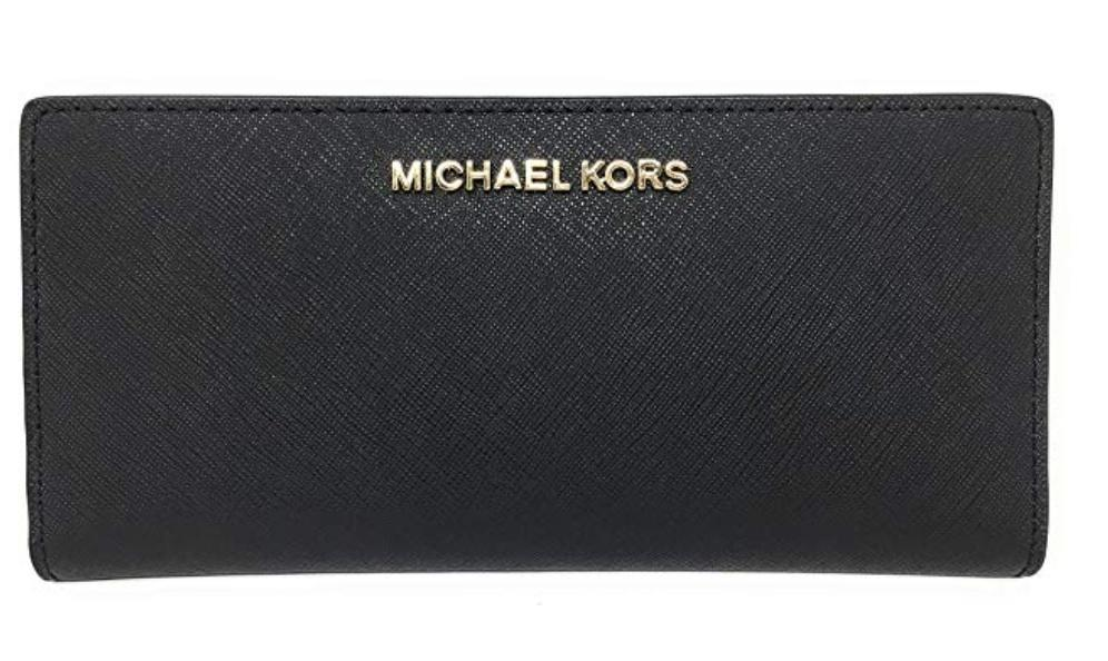 f0d3e170b0f3 Authentic Michael Kors Jet Set Travel Leather Medium Card Case Wallet with  Removable ID Card Holder