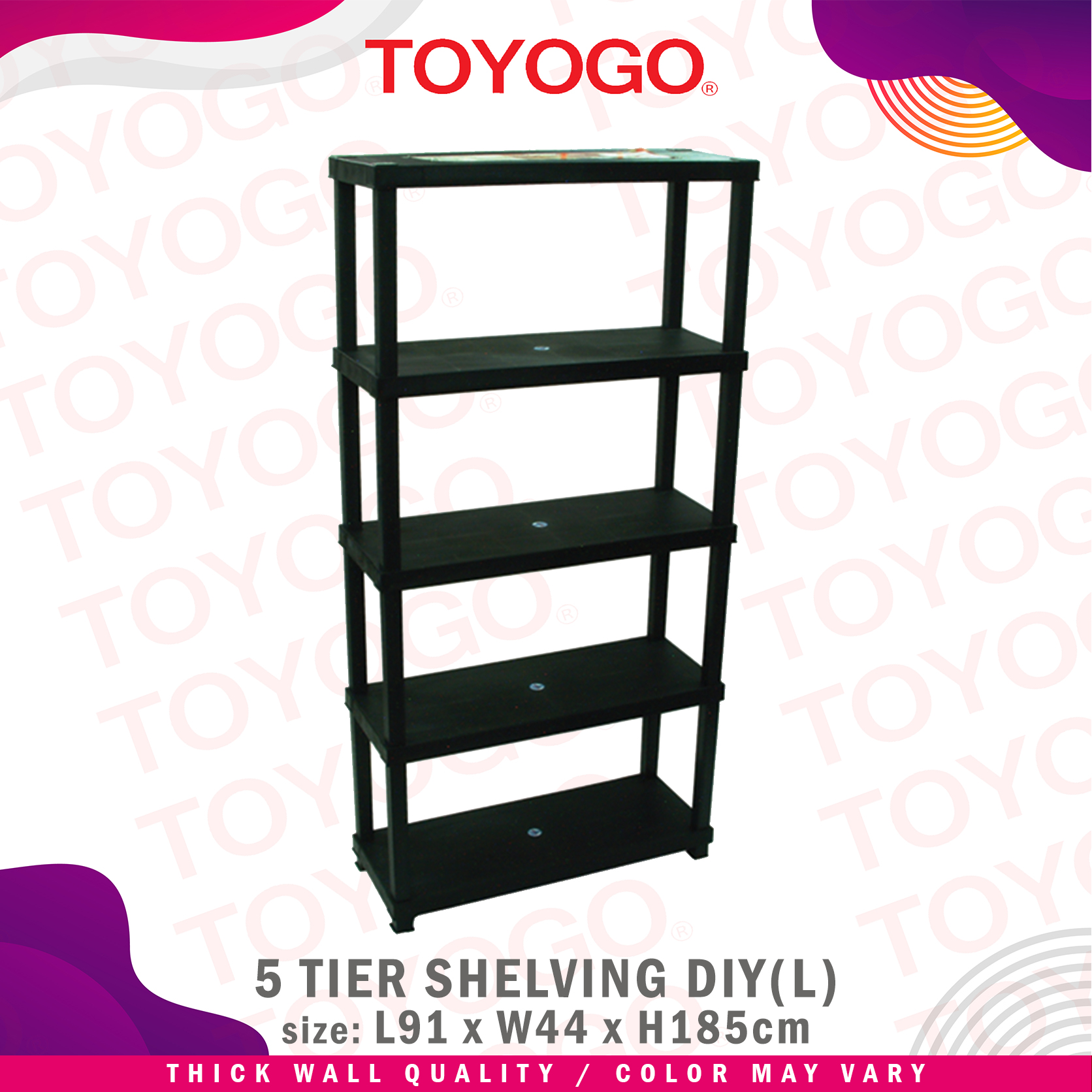 Toyogo Multi Function DIY Shelving Rack System (5 Tier) (892-5)