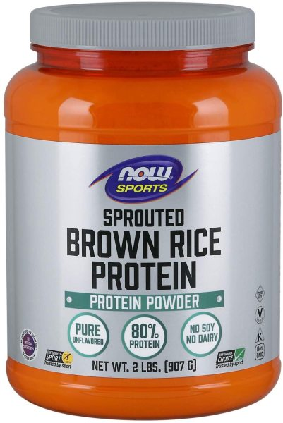 Buy Now Foods Sports Sprouted Brown Rice Protein Unflavored 907g Singapore