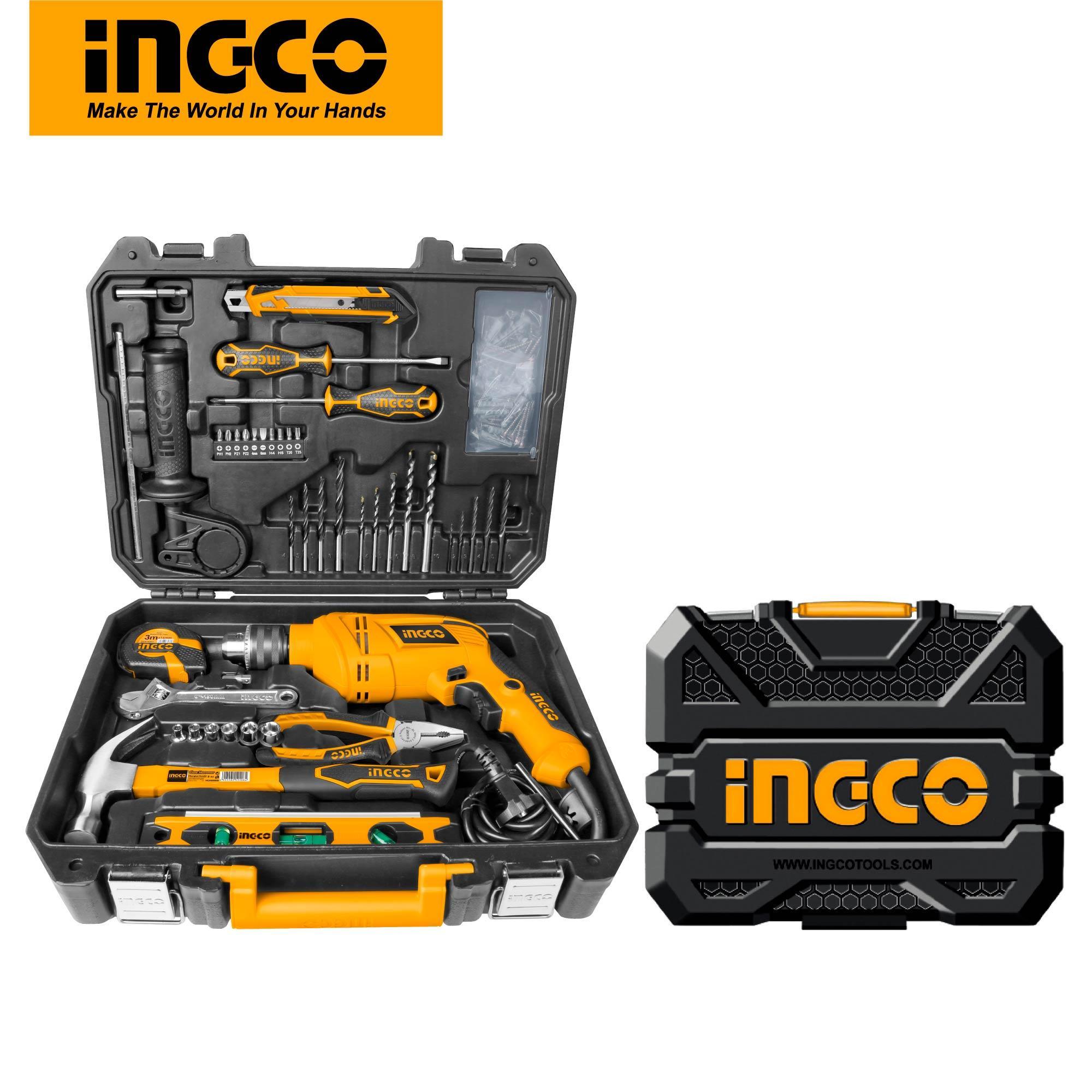 INGCO Repair Tools Kit 101 PCS Household Tools Set HKTHP11021