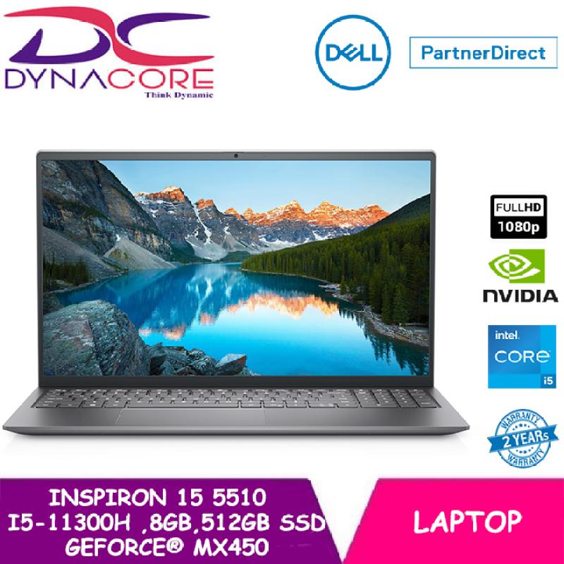 DYNACORE - DELL Inspiron 15 Laptop 5510 15.6 FHD | i5-11300H | 8GB RAM | 512GB SSD | GeForce® MX450 | WIN 10 HOME | 2 YEAR WARRANTY