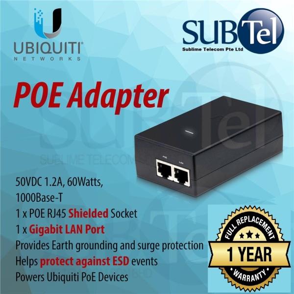 POE-50-60W Ubiquiti Gigabit POE Adapter 50V 60W UBNT