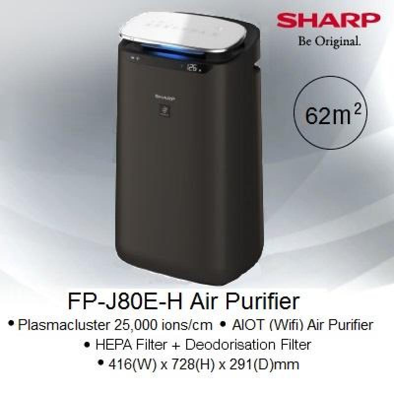 Sharp Air Purifier with AIoT Function FP-J80E-H Singapore
