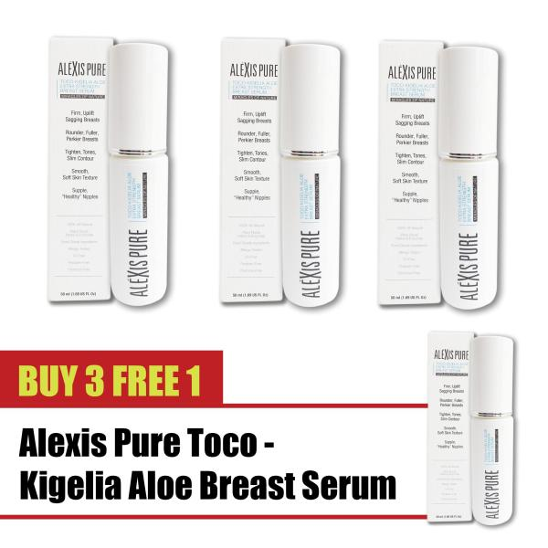 Buy Buy 3 Free 1 Alexis Pure Toco-Kigelia Aloe Extra Strength Serum ENHANCE: Neck and Chest Cream  Tightens and Firms Sagging Skin  Best Formula for Decollete Smoothing: TOP RATED Natural Breast Enlargement, Firming and Lifting Cream  -50ml Singapore