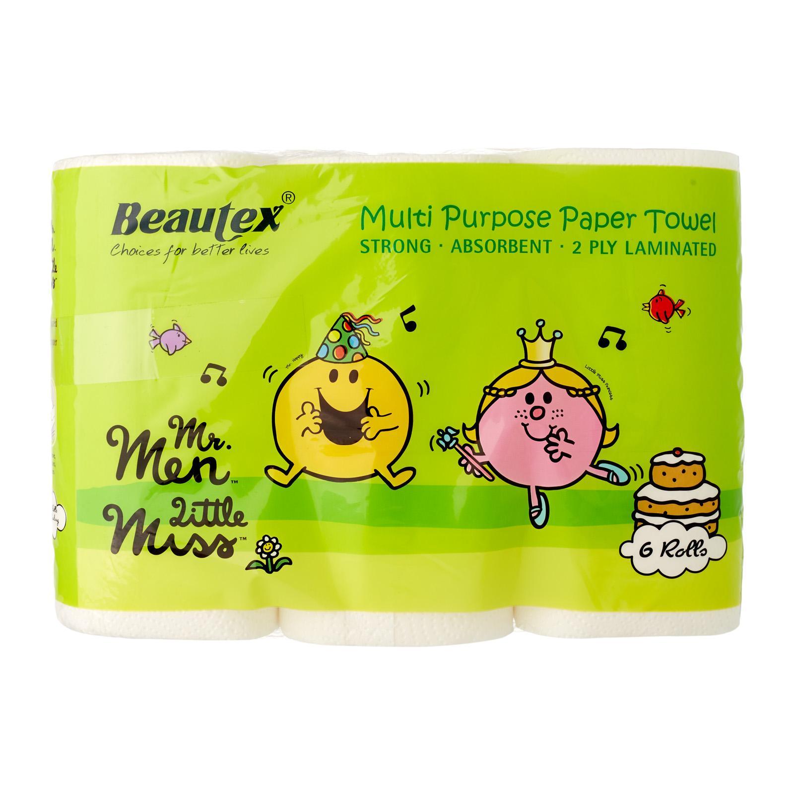 Beautex Mr Men and Little Miss Pure Pulp Kitchen Towel