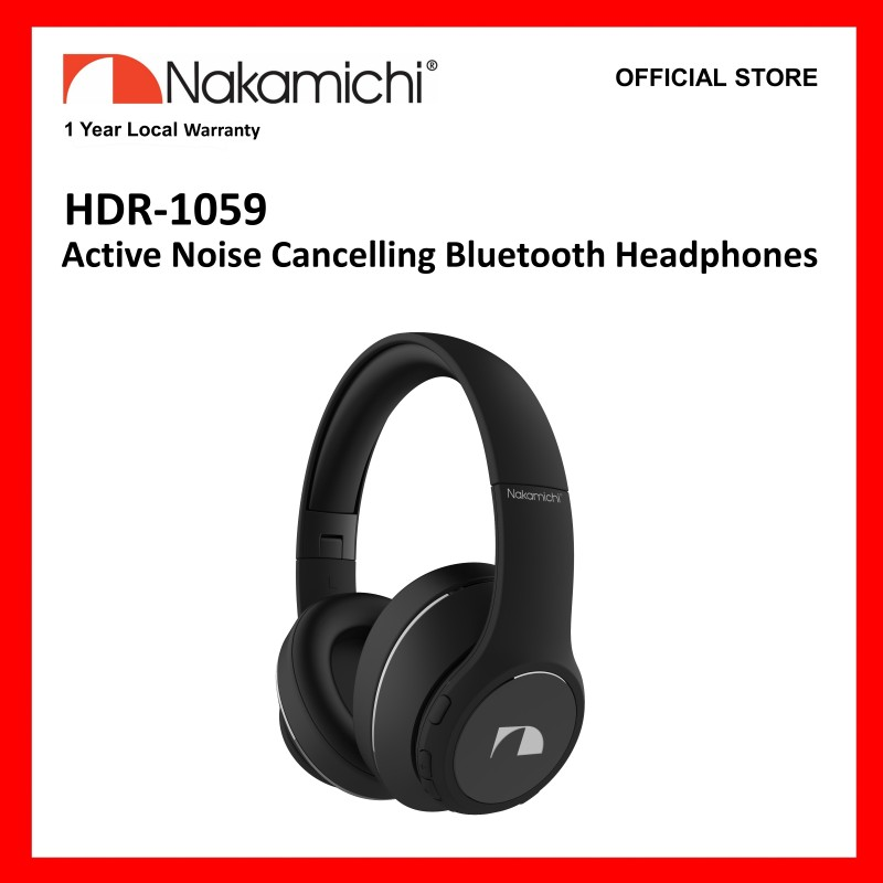 Nakamichi HDR1059 Active Noise Cancelling Bluetooth Headphones Singapore