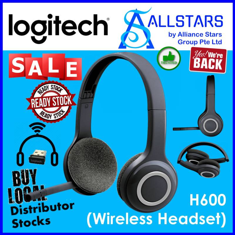 (ALLSTARS : We are Back / Conference Promo) Logitech H600 Wireless Stereo Headset (981-000504) (Warranty 2years with Local Distributor BanLeong) Singapore