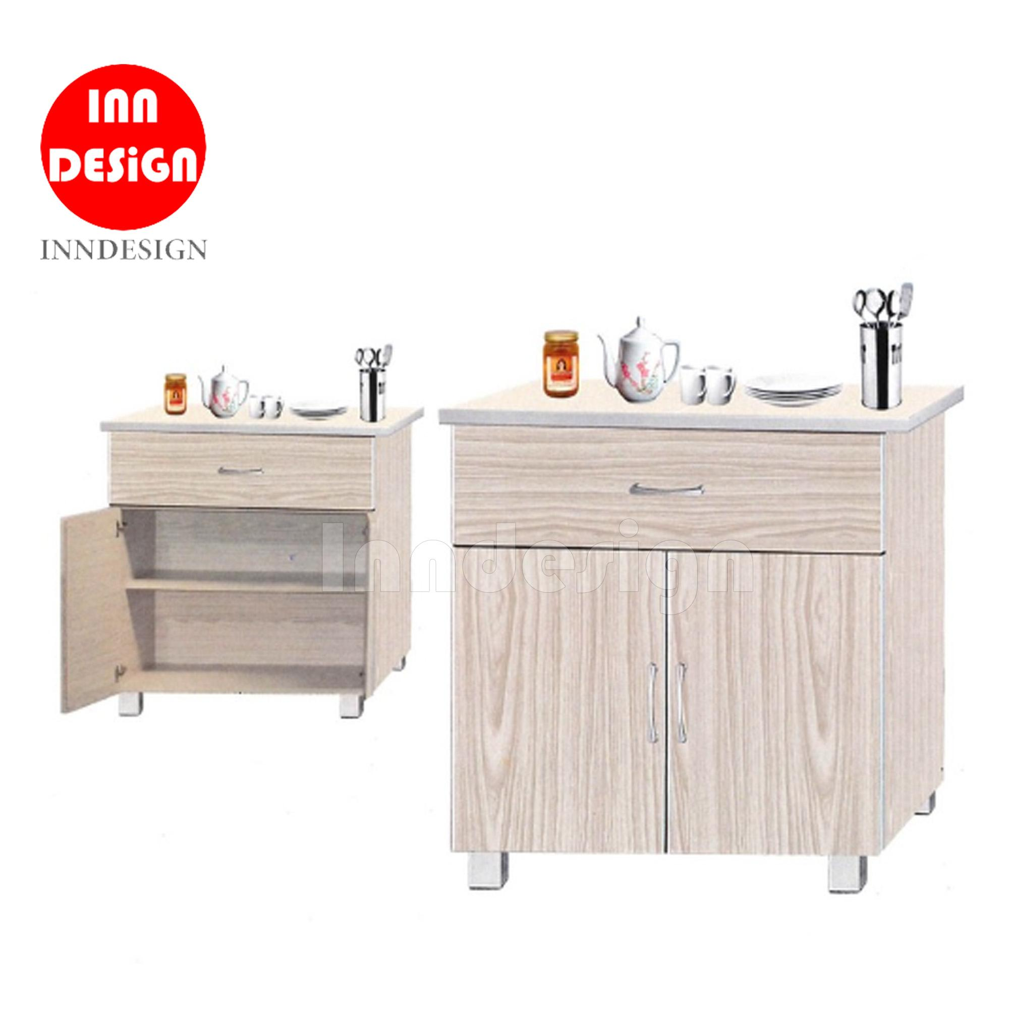 Don 2 Doors Stove Kitchen Cabinet (with Ceramic Tiles Top) By Inndesign.