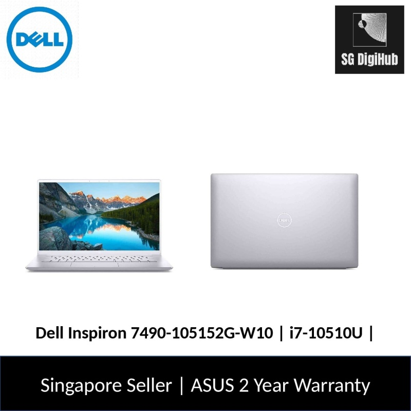Dell Inspiron 7490-105152G-W10 | i7-10510U | 16GB RAM | 512GB SSD | NVIDIA MX250 | 2Y Warranty