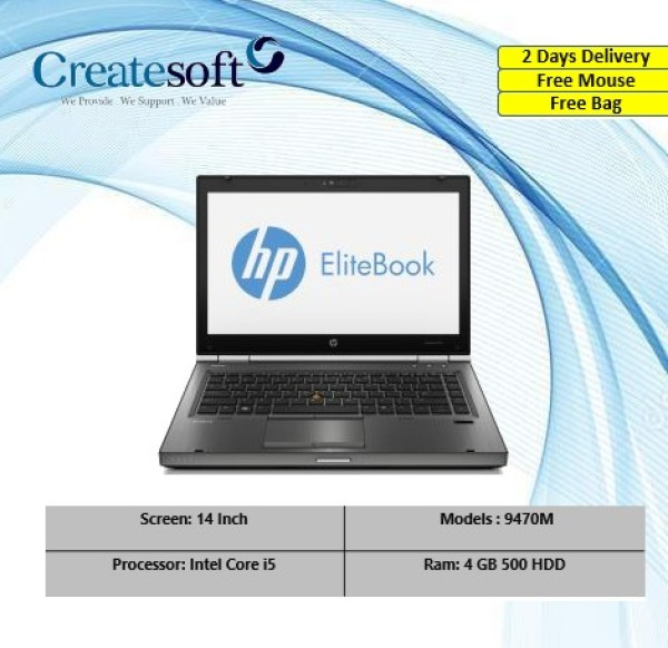 HP EliteBook 9470M 14 Inch Ultrabook with 4GB Ram and 500 GB HDD