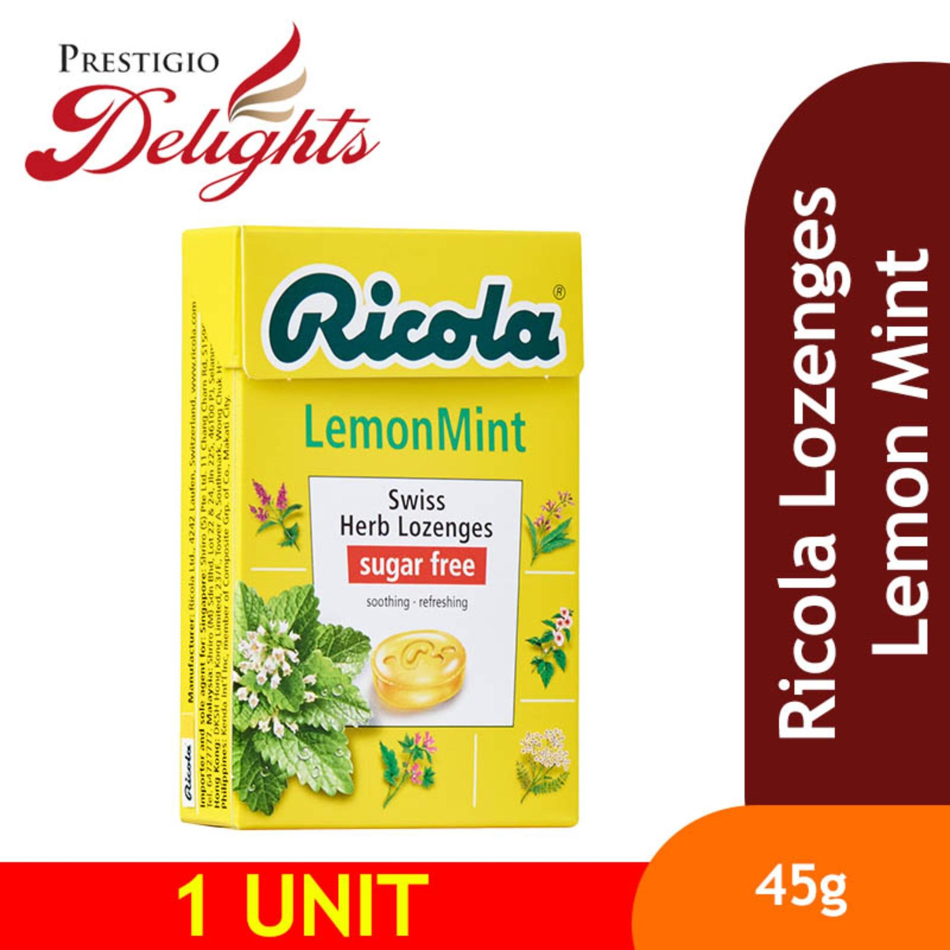 Ricola Lozenges Lemon Mint 45g By Prestigio Delights.