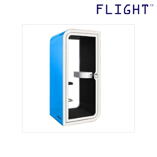 Telephone Booth with Tempered Glass Door, Galvanised Steel, Home Office Ergonomics, Office Furniture, Private Phone Booth, PB-01 - Flight