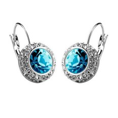 Retail 1 Pair Women Fashion Rhinestone Crystal Dangle Earrings Ear Hook Stud Jewellery Fashion