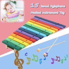 15 Lake Note Xylophone Pine Wood Colorful For Kids Gift Musical Instrument Toys Intl Free Shipping