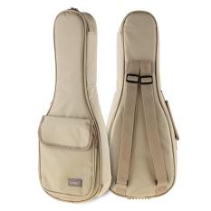 The Cheapest 21 Inch Concise Khaki Ukulele Bag 15Mm Sponge Soft Case Gig Stereoscopic Ukelele Mini Guitar Backpack Intl Online