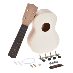 Who Sells 21In Soprano Ukelele Ukulele Hawaii Guitar Diy Kit Maple Wood Body Neck Rosewood Fingerboard With Pegs String Bridge Nut Intl Cheap