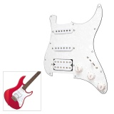 Price 3 Ply Ssh Loaded Prewired Pickguard Humbucker Pickups Set For Fender Strat St Electric Guitar White Pearl Intl Not Specified China
