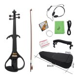 Price Comparison For 4 4 Full Size Electric Violin Fiddle Maple Wood Stringed Instrument Ebony Fretboard Chin Rest With 1 4 Connecting Cable Earphone Case For Student Music Lover Beginner Outdoorfree