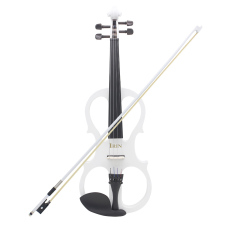 List Price 4 4 Wood Maple Electric Violin Fiddle Stringed Instrument With Ebony Fittings Cable Headphone Case For Music Lovers Beginners Intl Oem