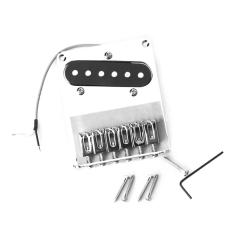 6 Saddle Bridge And Pickup For Fender Telecaster Guitar Chrome In Stock