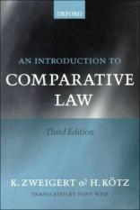 An Introduction to Comparative Law (Author: Konrad Zweigert, Hein Kotz, ISBN: 9780198268598)