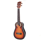 Andoer 23 Compact Ukelele Ukulele Hawaiian Red Sunset Glow Spruce Rosewood Fretboard Bridge Concert Stringed Instrument With Built In Eq Gig Bag Strap Best Price