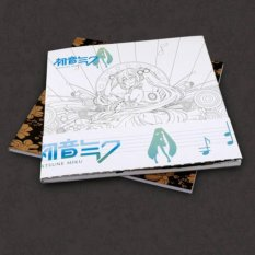 Anime Hatsune Miku Coloring Book Manga Paint Book Anti Stress Art Therapy - intl
