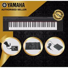 Best Price Authorized Seller Yamaha Np 12 Piaggero 61 Keys Portable Keyboard Piano Black With Keyboard Bag And Yamaha Sustain Pedal Fc5