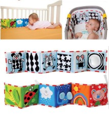 Baby Crib Double-sided Cloth Book Reversible for Newborn Educational - intl