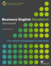 Business English Handbook Advanced (Author: Paul Emmerson, ISBN: 9781405086059)