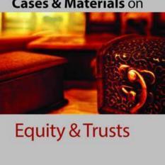 Cases & Materials on Equity & Trusts (Author: University of Warwick) Gary (Professor of Law Watt, ISBN: 9780198737650)